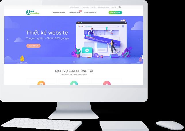 Diễn đàn rao vặt tổng hợp: Uni Creation chuyên cung cấp dịch vụ thiết kế web trọ Mockup