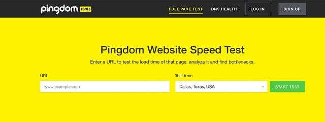 kiểm tra tốc độ website pingdom