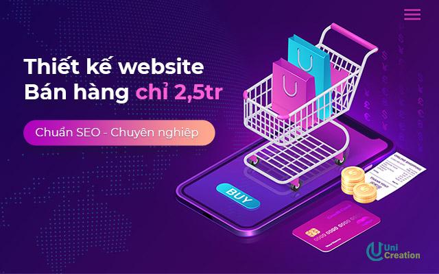 Thiết kế website bán hàng chuẩn SEO, chuyên nghiệp chỉ 2.5tr