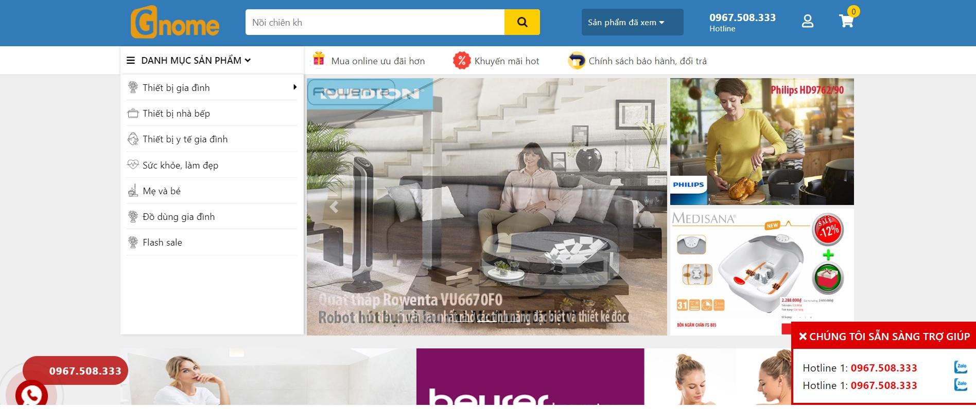 mẫu website bán hàng của univn.vn