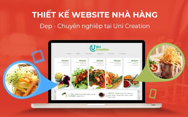 thiết kế website cho nhà hàng ẩm thực