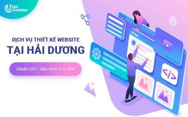 Dịch vụ thiết kế website tại Hải Dương
