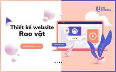 Dịch vụ thiết kế website rao vặt