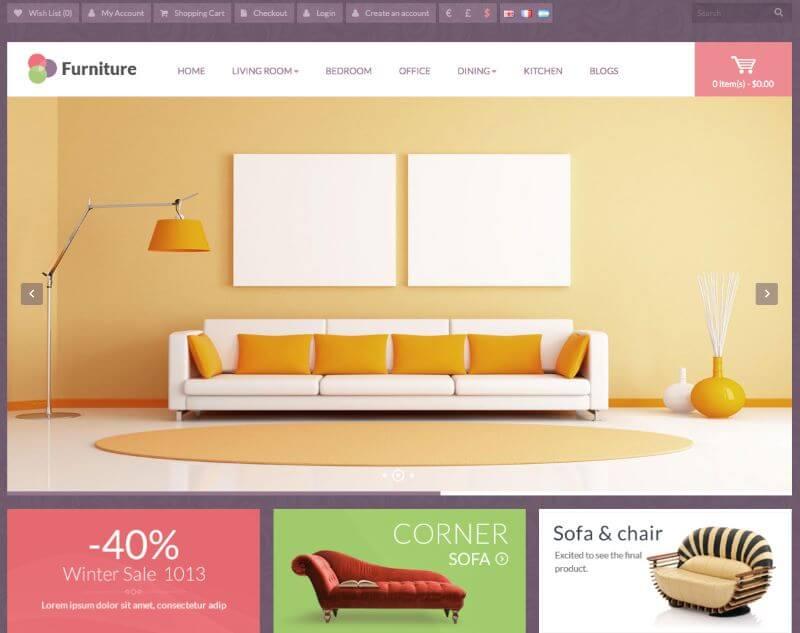 Giao diện web nội thất đẹp mắt