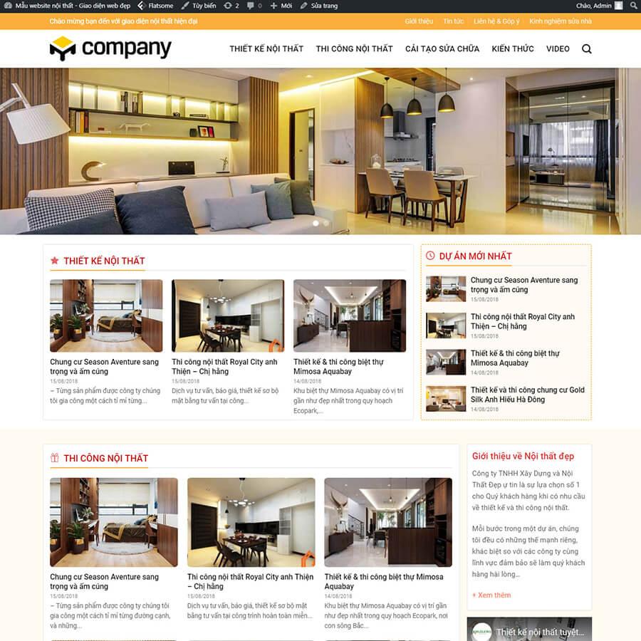 Mẫu website nội thất 02