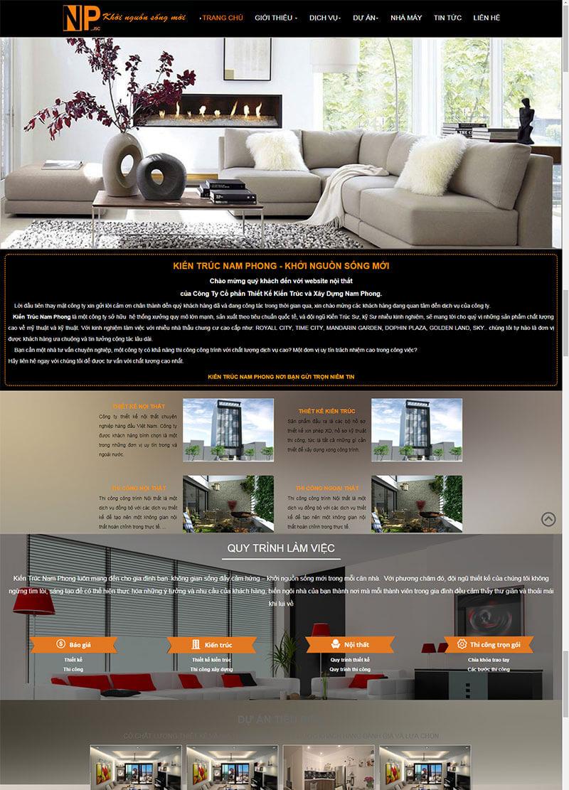 Mẫu website nội thất 03