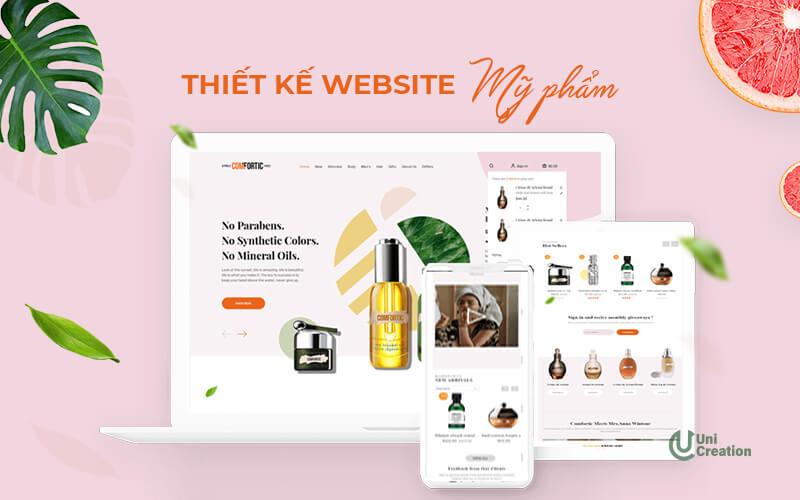 Thiết kế website mỹ phẩm chuẩn SEO, hút khách
