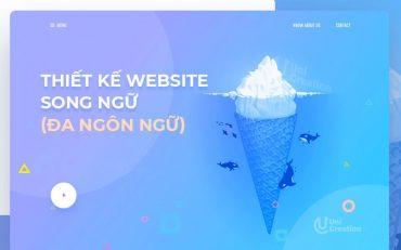 Thiết kế website song ngữ