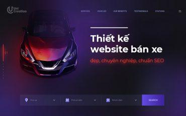 Thiết kế website bán xe