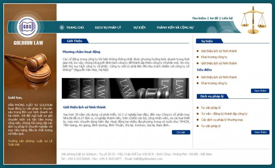 Mẫu website văn phòng công ty luật