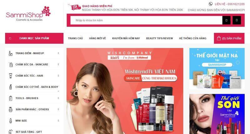 Mẫu website mỹ phẩm chuyên nghiệp 03
