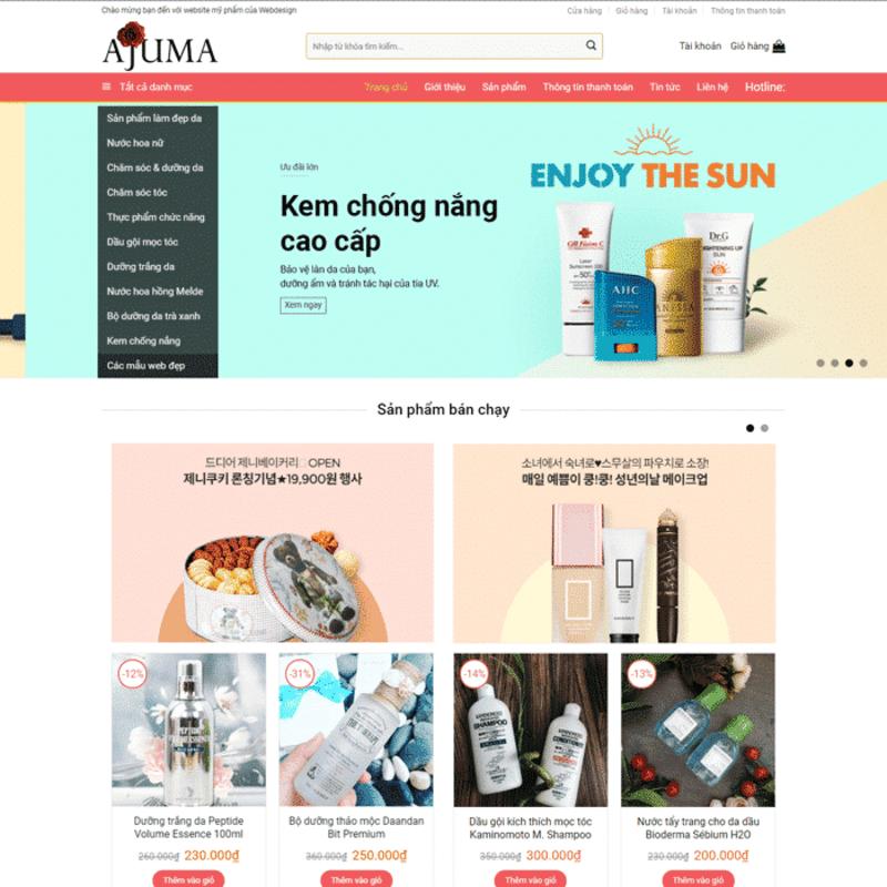 Mẫu website mỹ phẩm hút khách 08