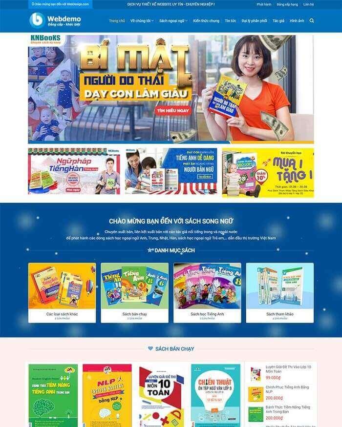Mẫu website bán sách đẹp- BookStore Online