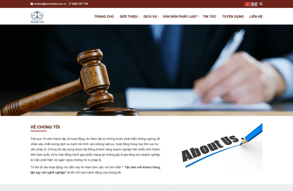 Mẫu website văn phòng luật sư