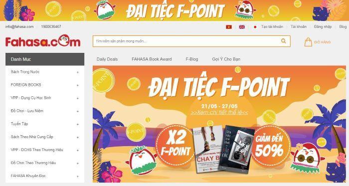 Website bán sách Fahasa