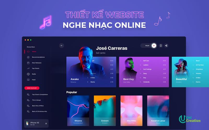 Thiết kế website nghe nhạc online