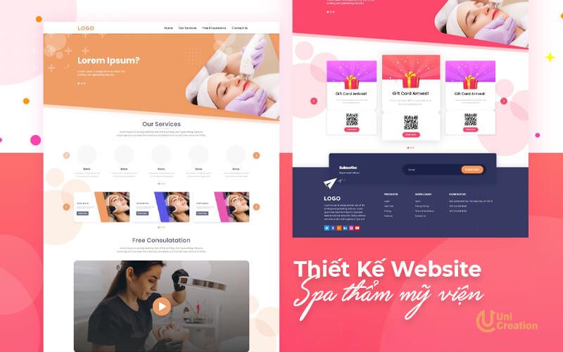 Dịch vụ thiết kế website thẩm mỹ viện