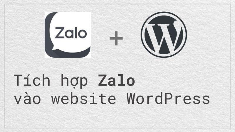 tích hợp Zalo vào WordPress