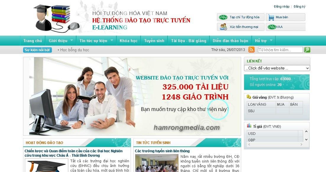Mẫu website ngành giáo dục