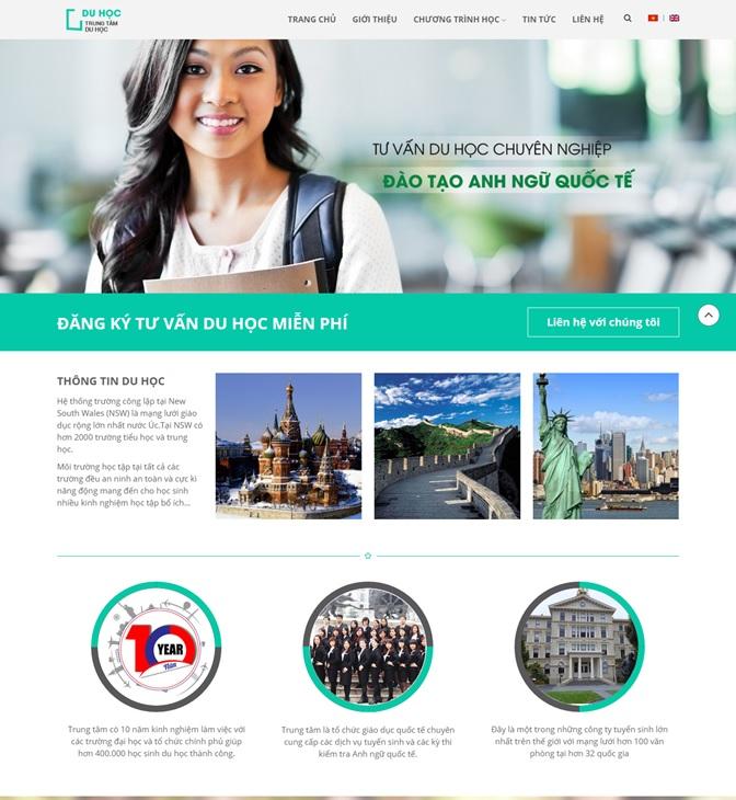 Mẫu website trường học đẹp