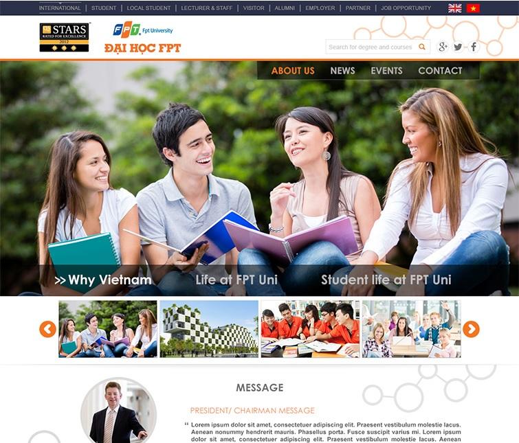 Mẫu web thường dùng cho các trường học