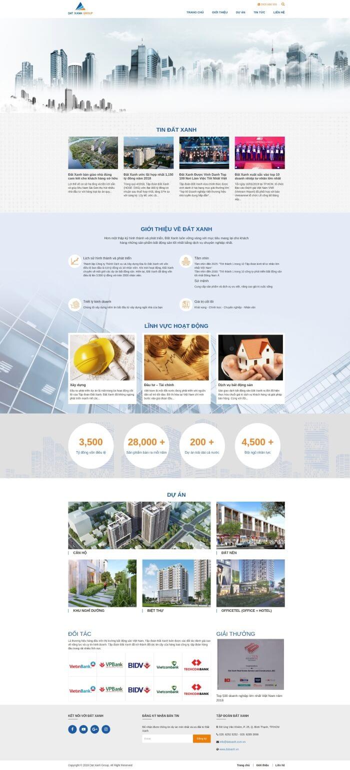 Thiết kế mẫu web đẹp theo yêu cầu của khách